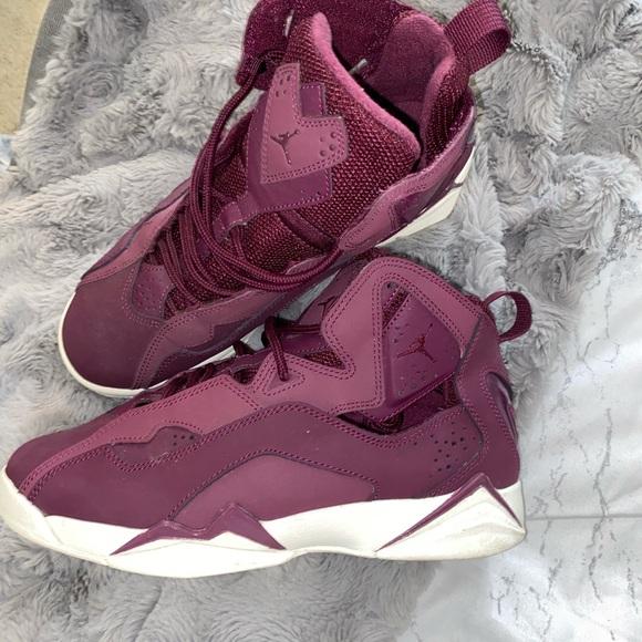 Jordan Shoes | Purple Maroon Jordans